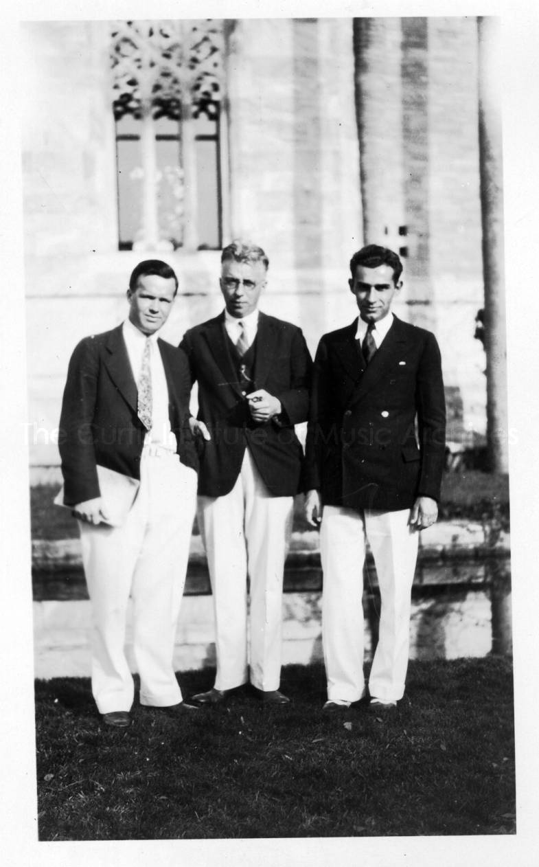 Anton Brees, Alexander McCurdy, and Robert Cato at Bok Tower